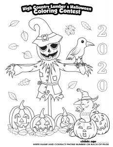 2020 Coloring Contest Sheet
