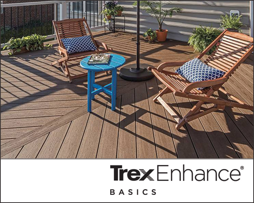 Trex composite decking - Enhance Basics