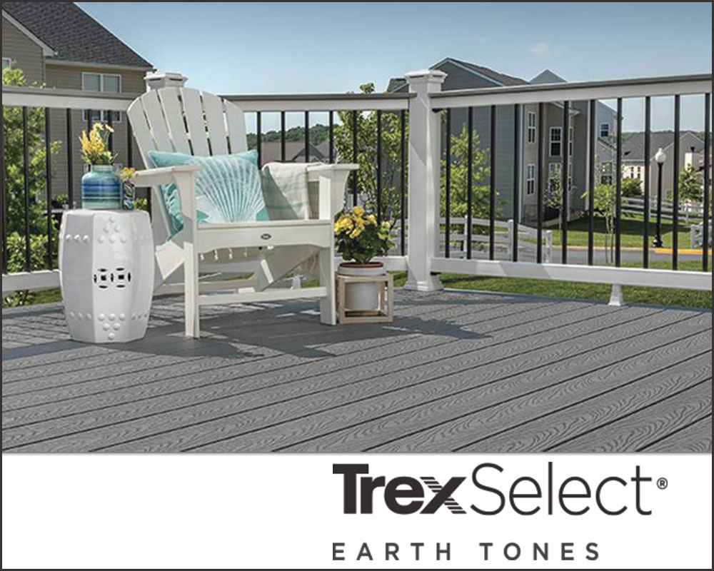 Trex composite decking - Select Earth Tones