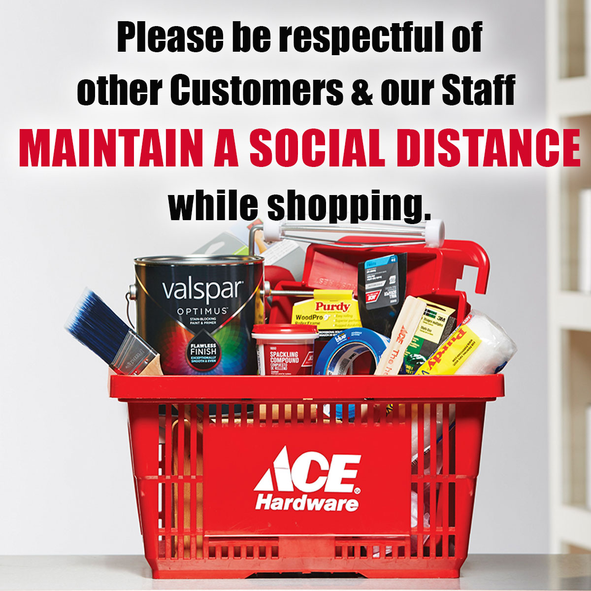 HCL is open, Please maintain a social distance from other customers and HCL staff while shopping.
