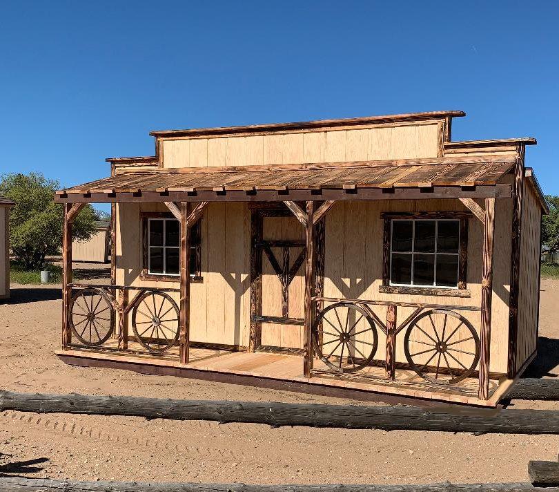 Wagonwheel Facade Shed