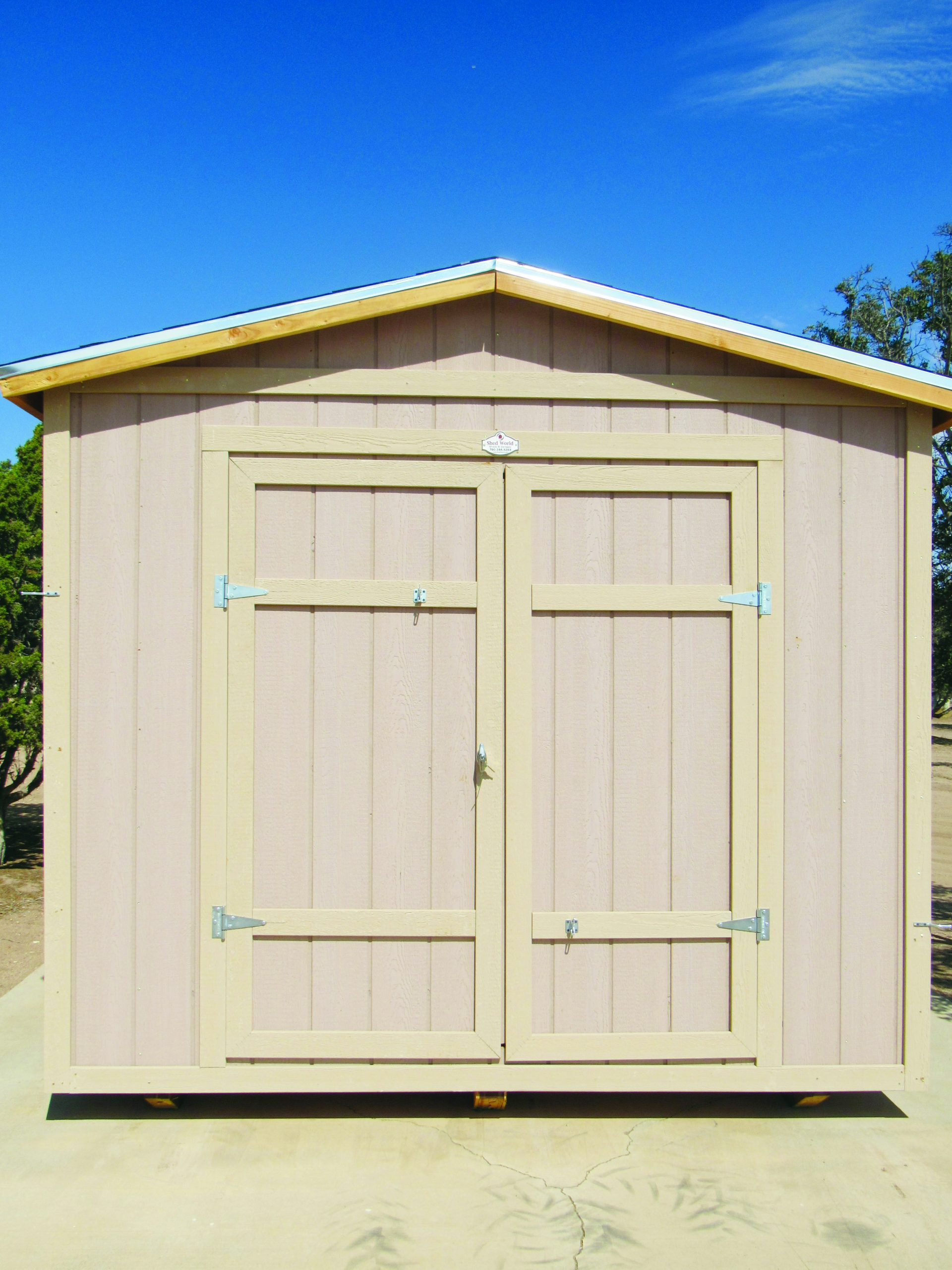 Double Door Storage Shed